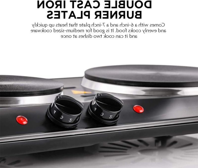 small electric stove top 2 burners range