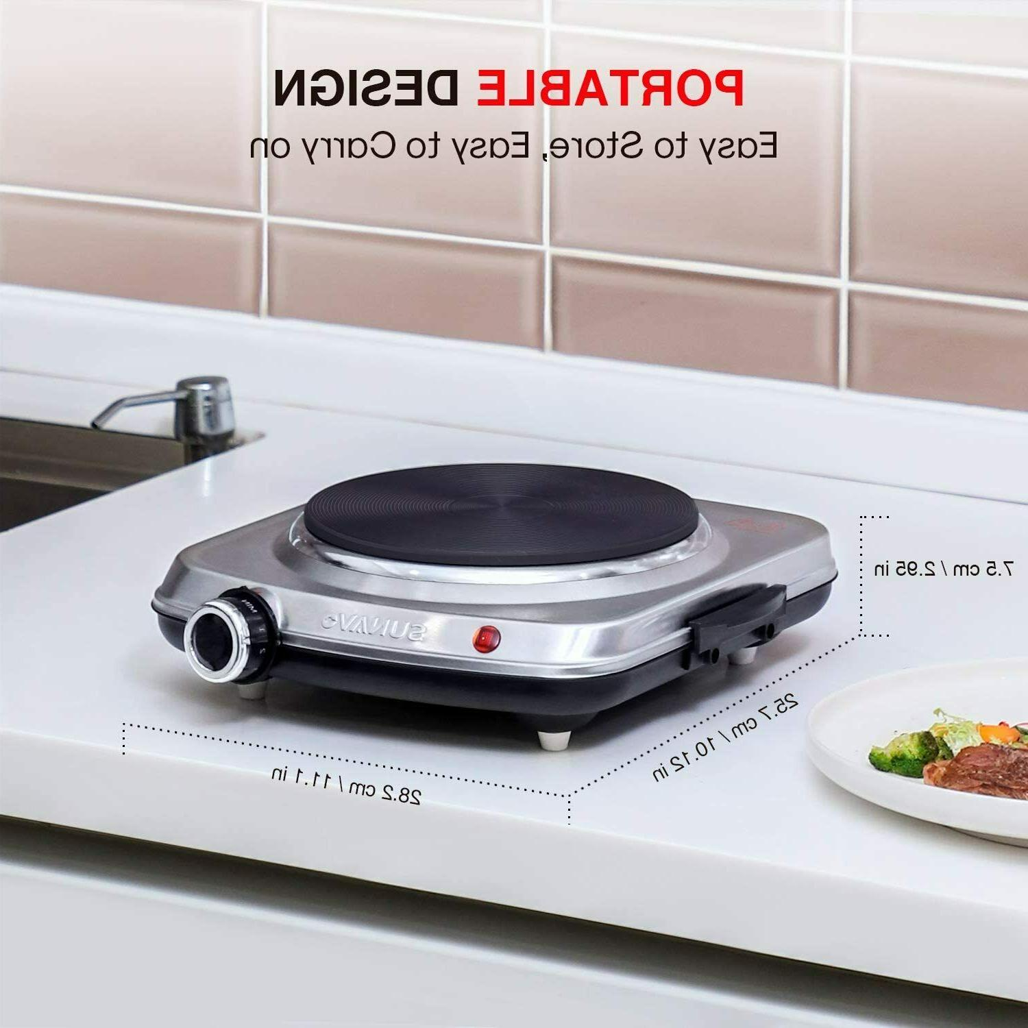 1500W Cooking, Electric Burner with Level