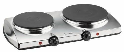 NEW BRENTWOOD TS-372 1,440-watt Electric Double Hot Plate