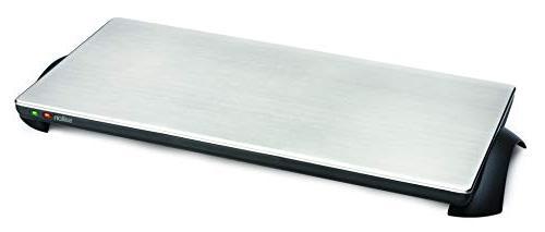 Salton TWT-40 1000-Watt Cordless Stainless-Steel Warming Tray, 4
