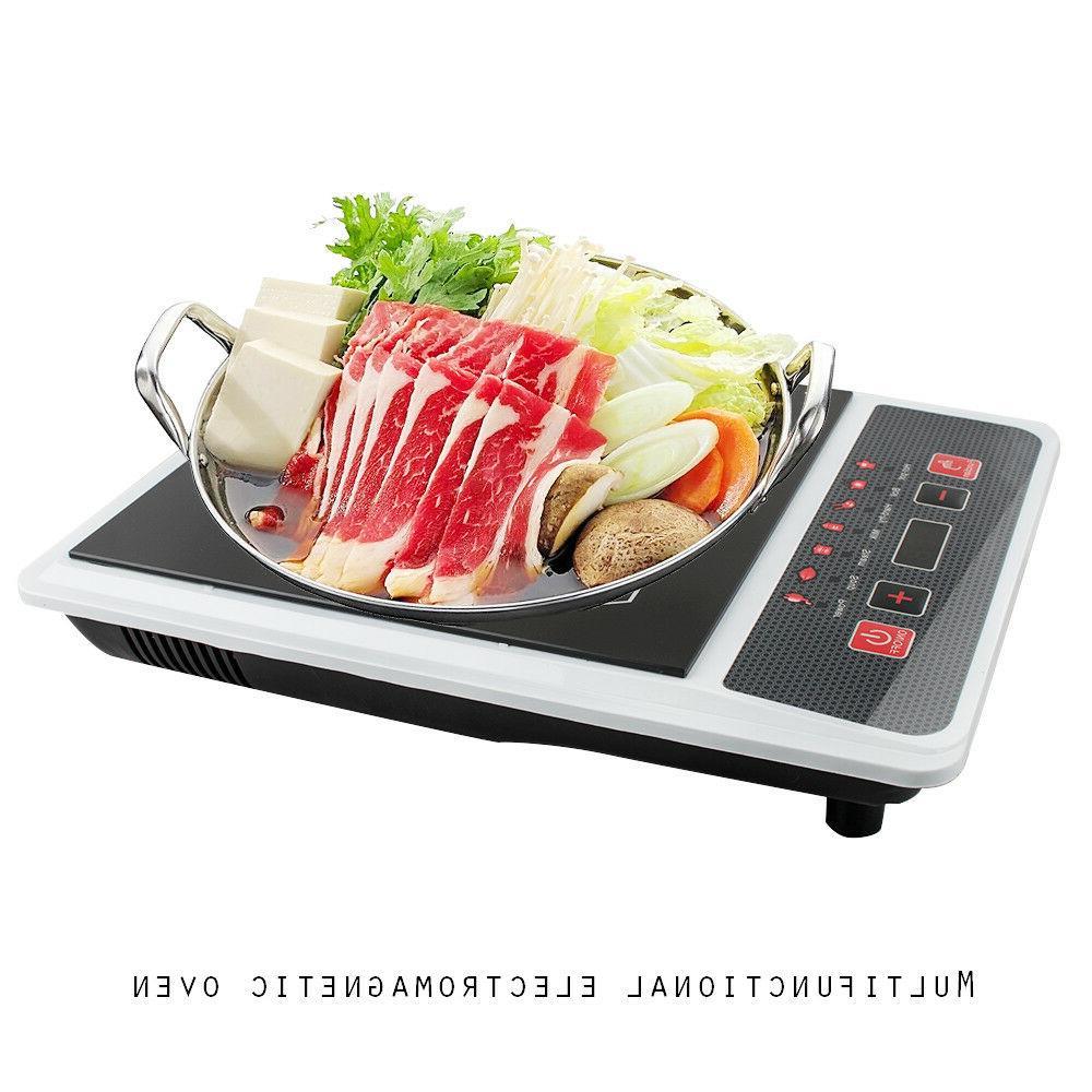 US Single Burner Digital Hot Plate Cooktop Countertop