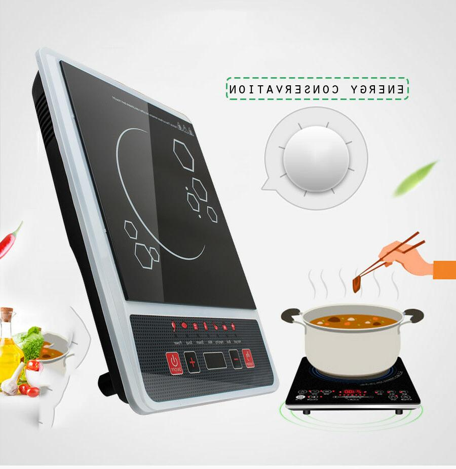 US Electric Single Burner Digital Hot Plate Cooktop Countertop