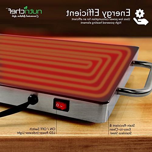 Portable Food Plate Warming Warmer w/Black Keep Food Table - PKWTR15