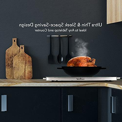 Portable Food Plate - Warming Dish w/Black Keep Food Buffet Serving, Restaurant, Table