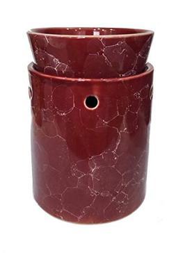OBI Marble Decorative Ceramic Tart Warmer - Set of Dish and