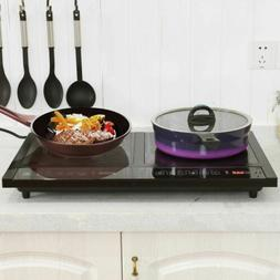 melectrical adjustable temperature double burner induction c