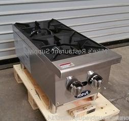 "NEW 12"" Hot Plate 2 Open Burner Gas Range Cook Top #2546 Com"