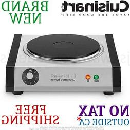 *New* Cuisinart Cast Iron SINGLE Electric BURNER  Portable 6