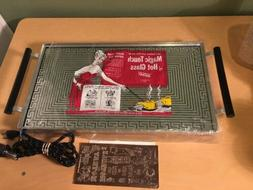 NEW NOS Magic Touch Electric Retro Hot Plate Glass Tray Mid