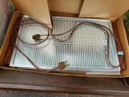 NEW vintage 60s Electric Retro Hot Plate Glass Tray Mid Cent