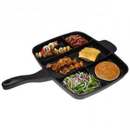 "The Master Pan Non-Stick Divider Meal Skillet 15"" Grill Fry"