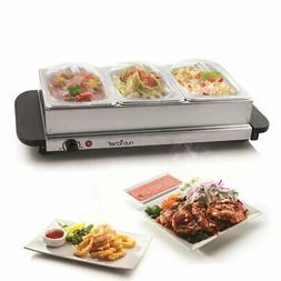 NutriChef PKBFWM33 Food Warming Tray / Buffet Server / Hot P