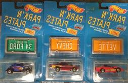 HOT WHEELS PARK 'N PLATES Lot Of 3