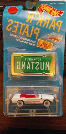 HOT WHEELS PARK'N PLATES MUSTANG COLLECTIBLE  LICENCE PLATE