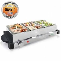 NutriChef PKBFWM24 Electric Hot Plate Food Warmer Buffet Ser