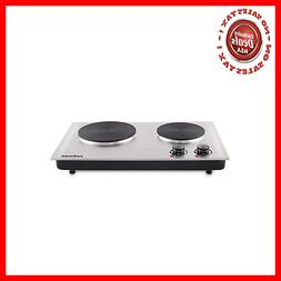 Cusimax 1800W Double Hot Plate for Cooking - Electric Stove