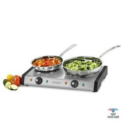 Portable Electric Burner Cast Iron Cooktop Countertop Stove