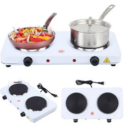 Electric Double Burner Hot Plate Heating Cooking Stove Kitch