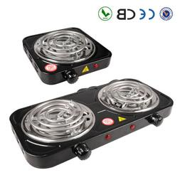 Portable Electric Double / Single Burner Hot Plate Stove Tra