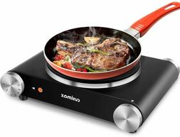 CUSIMAX Portable Hot Plate Burner for Electric Cooking, 1500
