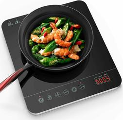 PORTABLE INDUCTION COOKTOP 15 Temperature Power Setting Time