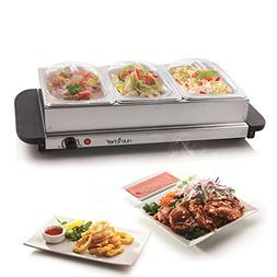NutriChef Professional Portable Hot Plate Food Warmer Statio