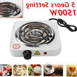 Portable Single Electric Burner Hot Plate Cooktop RV Dorm Co
