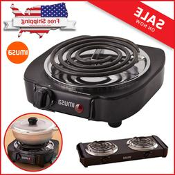 Portable Single Electric Burner Hot Plate Countertop Stove C