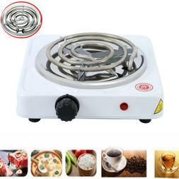 Portable Single Electric Burner Hot Plate Stove Dorm RV Trav