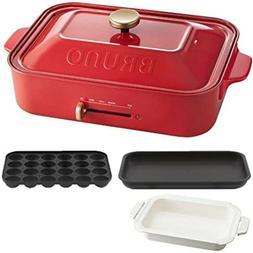 BRUNO compact hot plate + ceramic-coated pan, set of 2