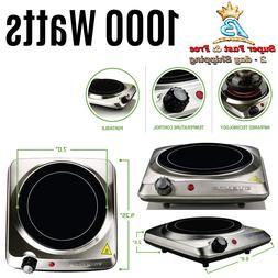Ovente 120V 1000 Watts Single Cooktop Burner Portable Cerami