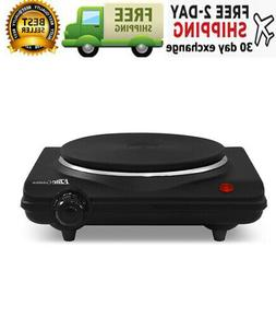 Single Electric Flat Cast Iron Heating Plate Burner Non Skid