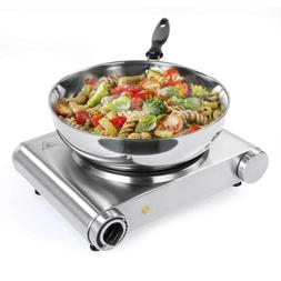 Single Electric Hotplate Portable Hot Plate Burner 1500W Hob