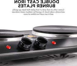 Small Electric Stove Top 2 Burners Range Double Hot Plate Po
