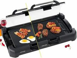 Smokeless Grill Griddle Indoor Cast Iron Burger Hot Plate No