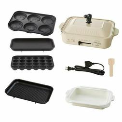 BRUNO Snoopy Compact Hot Plate Peanuts 5pics, 3 Plates + Cer