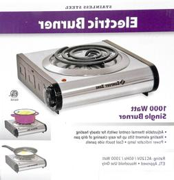 Stainless Steel  Electric Burner Hot Plate Stove 1000 Watt A