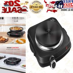 SUNAVO Hot Plates for Cooking, 1500W Electric Single Burner