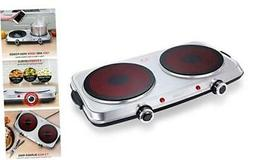 SUNAVO Hot Plates for Cooking, 1800W Electric Double Burner