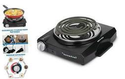 Techwood Portable Electric Burner Single Hot Plate Home Use