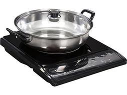 Tayama TIH-1500X Induction Cooker with Cooking Pot, , Black