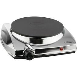 BRENTWOOD TS-337 Electric Single Hotplate with Chrome Finish