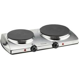 NEW BRENTWOOD TS-372 1,440-watt Electric Double Hot Plate