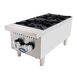 ATOSA US Two Burner Commercial Hot Plate Countertop Stove Ou