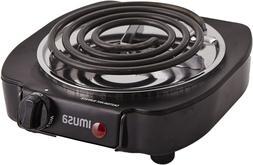 Portable Electric Single Burner1100Watts Hot Plate Counterto