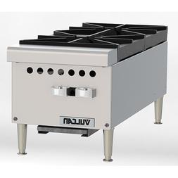 "Vulcan VCRH12 Restaurant Series Gas Hot Plate - 12""W, 2 Burn"