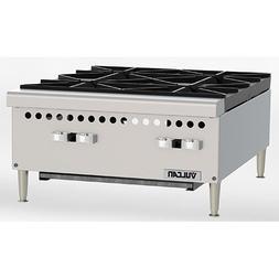 "Vulcan VCRH24 Restaurant Series Gas Hot Plate - 24""W, 4 Burn"