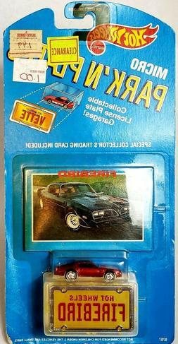 Vintage Hot Wheels Micro Park N' Plates Firebird Hot Bird 1: