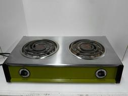 Vintage Sears Double Burner Electric Hot Plate Med & High He