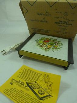 Vintage Spice of Life Vegetable Electric Hot Plate Warmer WA